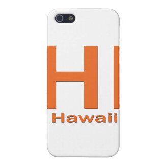 HALLO einfache Orange Hawaiis iPhone 5 Hülle