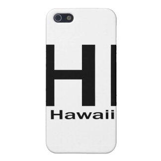 HALLO einfaches Schwarzes Hawaiis iPhone 5 Hülle