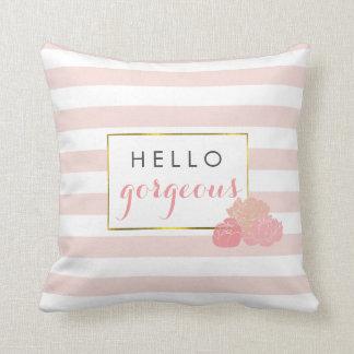 Hallo erröten herrlicher rosa Streifen u. die Zierkissen