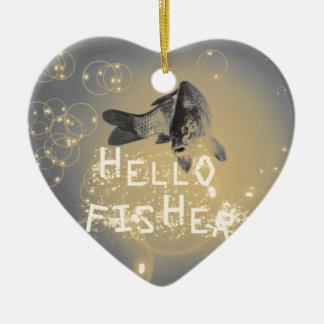 Hallo Fischer Keramik Herz-Ornament