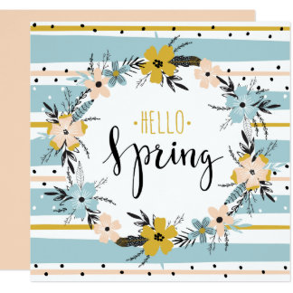 Hallo Frühling. Kundenspezifische Quadratische 13,3 Cm Einladungskarte