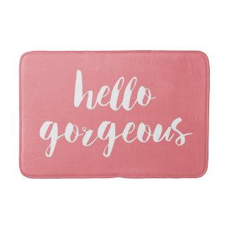 Hallo herrliche | korallenrote rosa u. weiße badematte