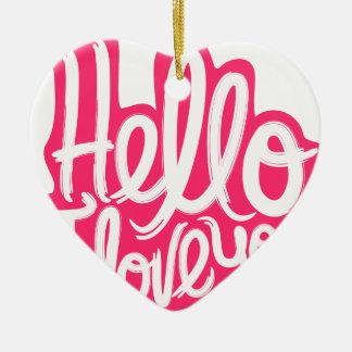 Hallo i-Liebe Sie Keramik Herz-Ornament