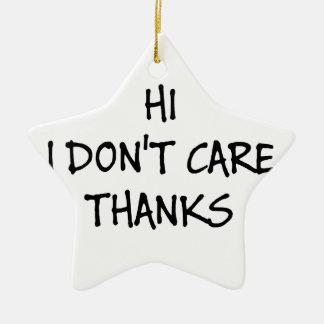 Hallo interessiere mich ich nicht Dank Keramik Stern-Ornament