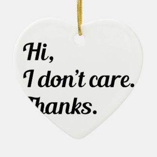 Hallo interessiere mich ich nicht keramik Herz-Ornament