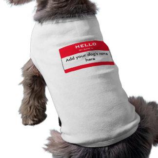 Hallo ist mein Name Ärmelfreies Hunde-Shirt