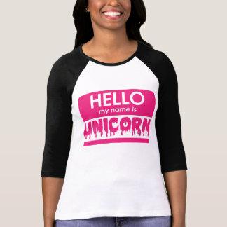 Hallo ist mein Name Einhorn T-Shirt