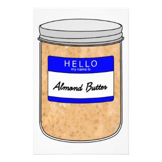 Hallo ist mein Name Mandel-Butter Briefpapier