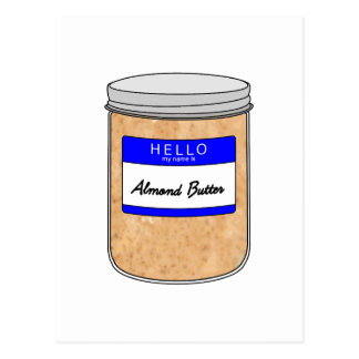 Hallo ist mein Name Mandel-Butter Postkarte