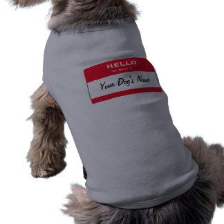 Hallo ist mein Name personalisierte Hundeshirts