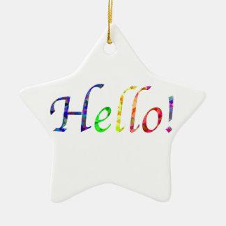 hallo! keramik Stern-Ornament