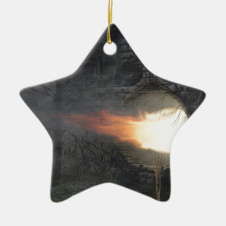 Hallo Keramik Stern-Ornament