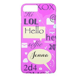 Hallo, LOL, HI-, personalisierter und iPhone 8 Plus/7 Plus Hülle