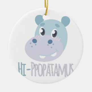 Hallo-ppopatamus Rundes Keramik Ornament