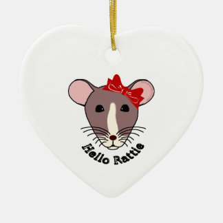 Hallo Rattie Keramik Herz-Ornament