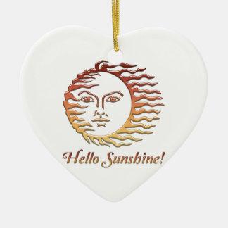 HALLO SONNENSCHEIN Spaßsun-Sommer Keramik Herz-Ornament