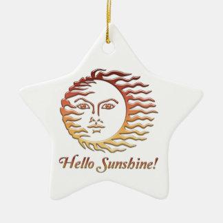 HALLO SONNENSCHEIN Spaßsun-Sommer Keramik Stern-Ornament