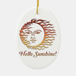 HALLO SONNENSCHEIN Spaßsun-Sommer Ovales Keramik Ornament