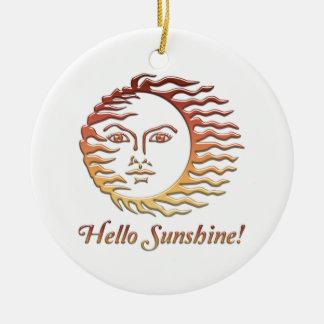HALLO SONNENSCHEIN Spaßsun-Sommer Rundes Keramik Ornament