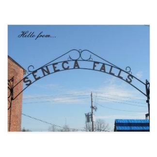 Hallo von… Seneca-Fälle, NY Postkarte