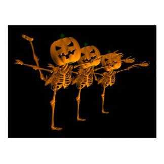 Halloween-Ballett-Tanzen-Skelette Postkarten
