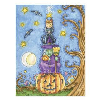 Halloween-Baum Postkarte