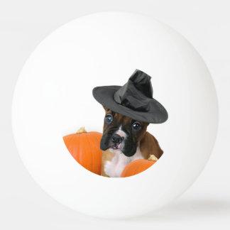 Halloween-Boxerwelpe Tischtennis Ball