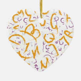 Halloween-Buchstaben Keramik Herz-Ornament