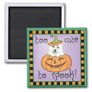 Halloween Eskie Quadratischer Magnet