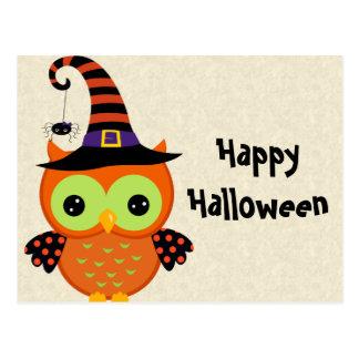 Halloween-Eule Postkarte