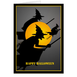 Halloween-Hexe-Gewohnheit Karte