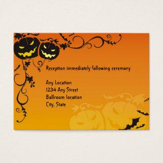 Halloween-Hochzeits-Empfangs-Karten Visitenkarte