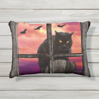 Halloween-Katze Kissen Für Draußen