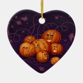 Halloween Keramik Herz-Ornament
