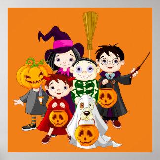 Halloween-Kindertrick oder -behandlung Poster