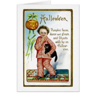 Hallowe'en Kürbis-Gesichter Karte
