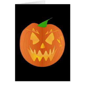 Halloween-Kürbis im Schwarzen