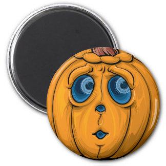 Halloween-Kürbis Runder Magnet 5,1 Cm