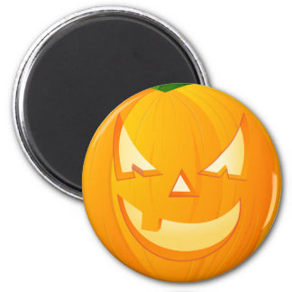 Halloween-Kürbis Runder Magnet 5,7 Cm
