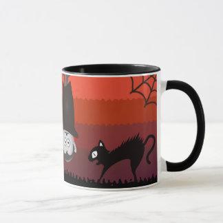 Halloween-Kürbis, Vampir, Katze, Spinne Tasse