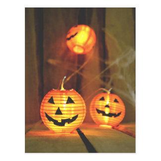 Halloween-Kürbislaternepostkarte Postkarte