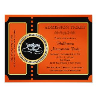 Halloween-Maskerade-Party-Karte 10,8 X 14 Cm Einladungskarte