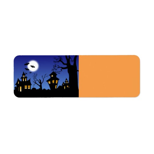 Halloween-Nacht Kleiner Adressaufkleber
