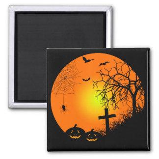 Halloween-Nacht Quadratischer Magnet