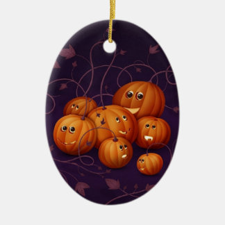Halloween Ovales Keramik Ornament