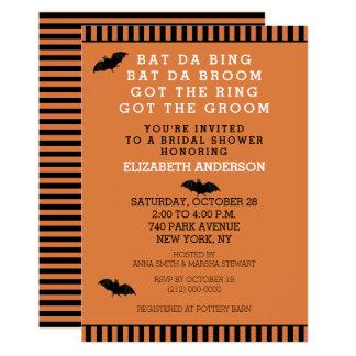 Halloween-Polterabend-Einladung Karte