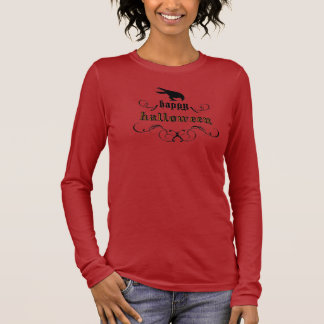 Halloween - Rabe Langärmeliges T-Shirt
