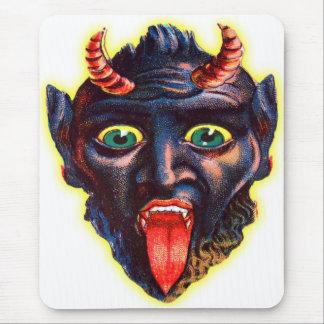 Halloween Retro Vintager Kitsch-Teufel Satan Mauspad