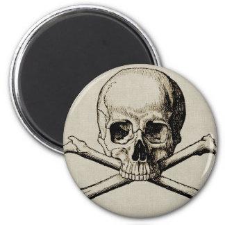 Halloween-Schädel-Knochen Runder Magnet 5,7 Cm