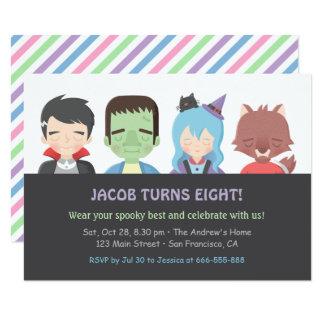 Halloween scherzt Monster-Geburtstags-Party 11,4 X 15,9 Cm Einladungskarte